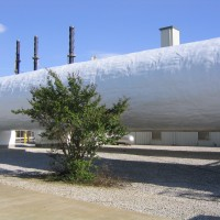 completed urethane tank coating