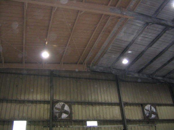 Cellulose under side of roof